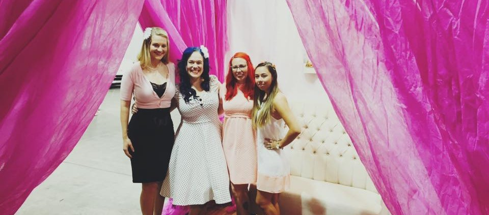 mellBella bridal show booth and crew