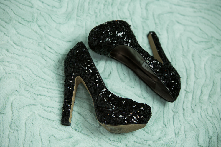 black sparkly Steve Madden shoes