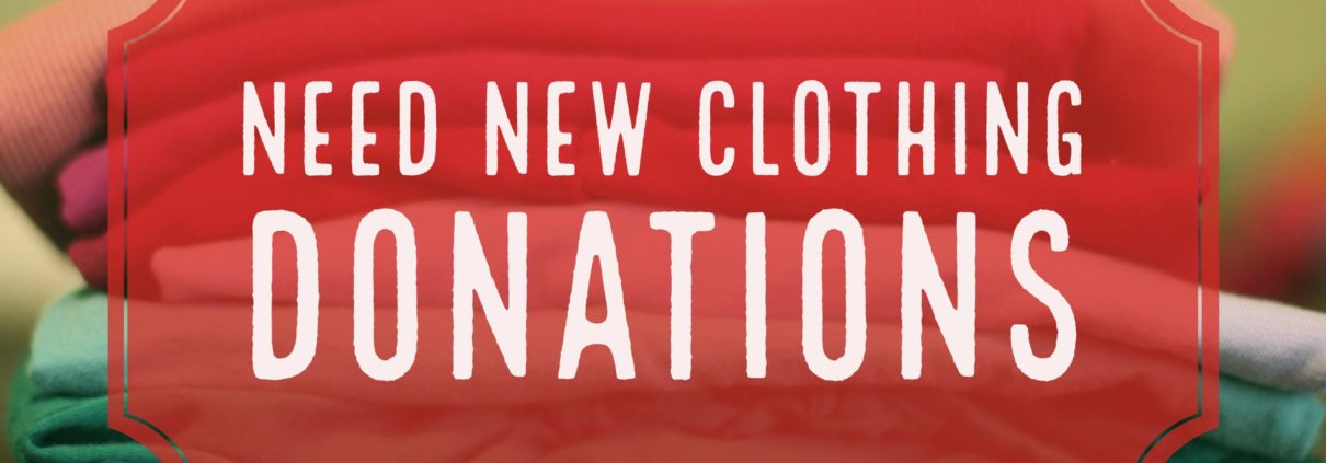 need new clothing donations for people against rape