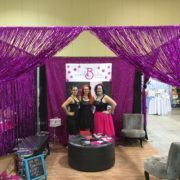 wedding show booth with Cecilee, Wanda, and Mell Bell