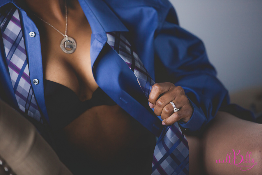 mellbella boudoir man's shirt and tie