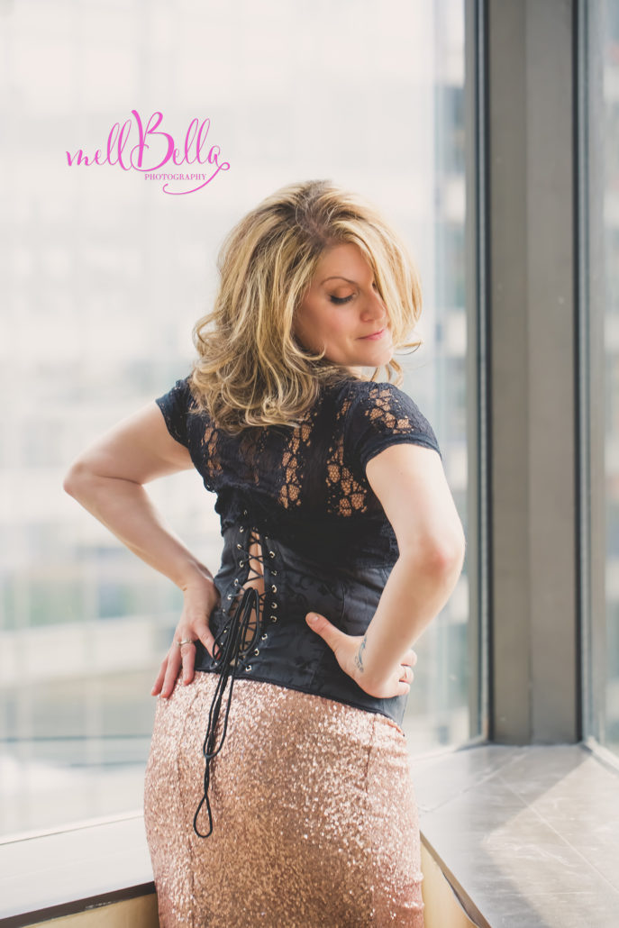 mellbella boudoir corset with sparkly sequin skirt