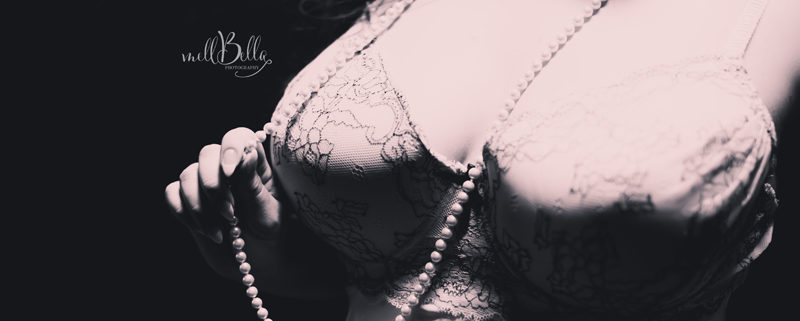 mellbella boudoir pearls in black and white